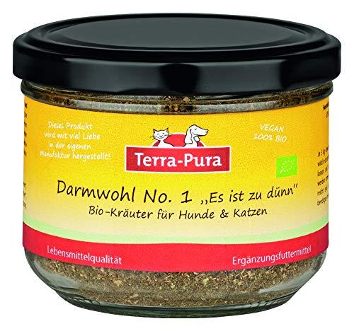 TERRA-PURA Tiernahrung Mezcla de hierbas orgánicas 100% para perros y gatos, producto intestinal n.º 1, regulación de la actividad intestinal, ayuda en la diarrea y cura de hierbas 80 g