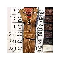10個入りジッパーナイロンコイルジッパーのためにDIYの縫製服衣料アクセサリーは、289淡黄色眉は、全体の長さは45センチメートルです