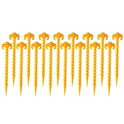 IFECCO Camping Tent Stakes Canopy Stakes 16 Pack 08042021115719