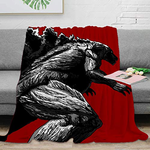Godzilla - Manta suave de microfibra (130 x 180 cm), diseño de monstruo de dinosaurio