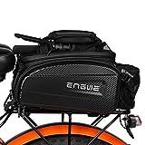 ENGWE Bike Rack Bag Trunk Bag Waterproof Carbon Leather Bicycle Rear Seat Cargo Bag Rear Pack Trunk Pannier Handbag(Capacity 17L-35L)