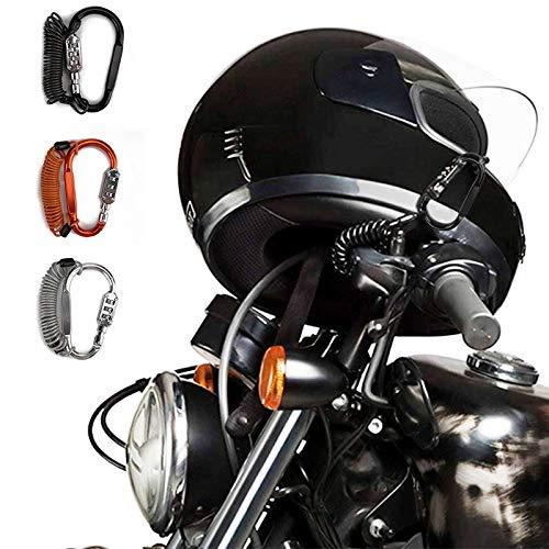 Bloqueo del Casco De La Motocicleta, con CóDigo De Cable De Acero Duro, Utilizado para Fijar El Pasador De Alpinismo del Scooter EléCtrico De La Motocicleta