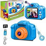 WANNABEKIDZ Birthday Gifts for 3 4 5 6 7 8 Year Old Boys Kids Camera for Boys 2021 Upgraded 8X Zoom Digital Selfie Cameras 18MP Photo 1080 Video; Best Toy Camera for Little Children Toddler, Blue