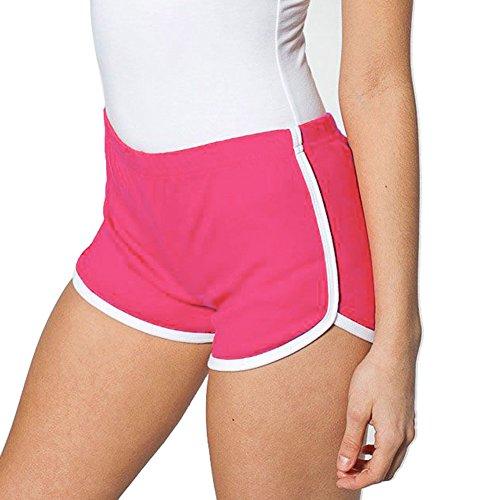 Femme Fitness Pantalon Court de Sport Quick Dry Gym Yoga Élasticité Running Short Pants Courir Tight 7 Couleurs (XL:Waist:30\