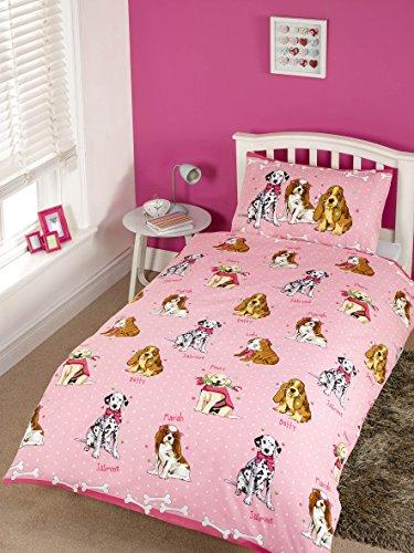 Rapport Doggies Duvet Set, Pink, Single