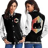 BYYKK Chaquetas Ropa Deportiva Abrigos, Retro Vintage Farmer Tractor Icon Women's Long Sleeve Baseball Jacket Sweater Coat