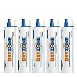 Dryzone Crema Contra la Humedad 5 x 310ml - Crema de Inyección Contra la Humedad para Tratamiento de Humedades Capilares
