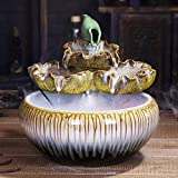L.TSN Fuente de Agua de sobremesa Fuente de sobremesa apilable de cerámica y...
