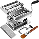 Pasta Maker Machine, 9 Adjustable Thickness Settings Pasta Machine, WENDEBAO Noodles Maker with...