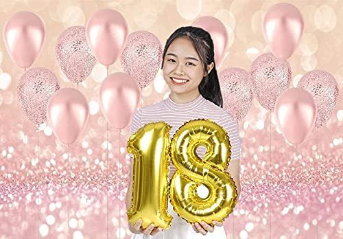 WaW 2.2x1.5m Pink Kulisse Fotobooth Hintergründe Luftballons Hochzeit, Bokeh Fotowand Hintergrund Geburtstag Mädchen Party Dekoration, Baby Fotoshooting Kulisse Stoff