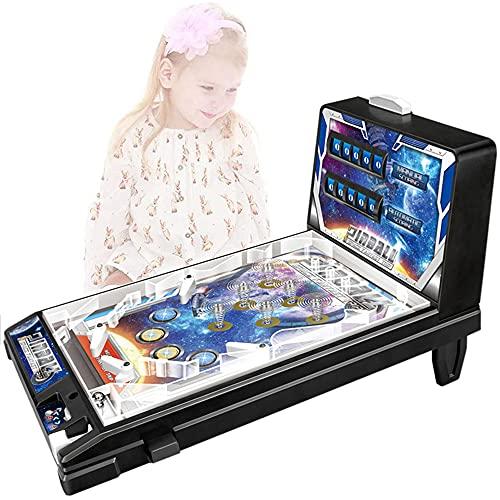 Mini Pinball Toy Máquina electrónica De Pinball Con Luces y Sonidos Espacio Infantil Máquina de Juego de Pinball Rompecabezas de Padres e Hijos Máquina de Pinball Arcade Retro Super Pinball Regalo
