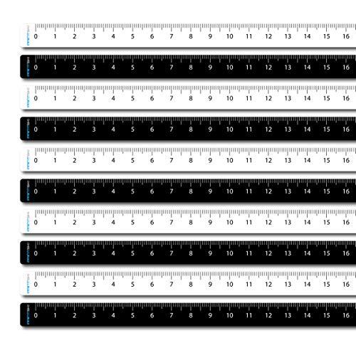 Maßband selbstklebend (50 cm) aus Kunststoff-Folie von Links nach rechts (5 x schwarz, 5 x weiß)