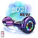 MARKBOARD Self Balancing Scooter 6.5'Skateboard - Eingebaute Bluetooth Lautsprecher z29 (Purple)
