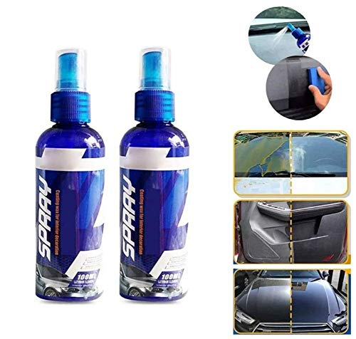 2 pcs Hydrophobes polnisches Nano-Beschichtungsmittel gegen Kratzer Anti Scratch Hydrophobic Polish Nano Coating Agent for Fog-Free Deep Shine Slick Surface and Long-Lasting Protection 100ml