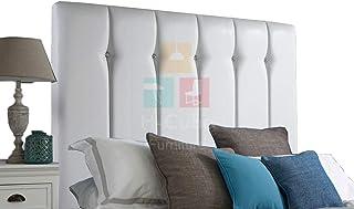 H-Cube meble tapicerowane ze sztucznej skóry łóżko łóżko łóżko podstawowe zagłówek dopasowanie/diamentowe guziki 140 cm se...