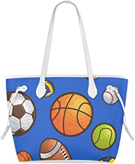 Bolso de hombro casual Balón deportivo Bolso de mano de vector transparente Bolso de viaje de gran capacidad Resistente al agua con mango duradero