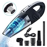 Handheld Vacuum, Wallfire Portable Car Vacuum Cleaner High Power Cordless Rechargeable Quick Charge