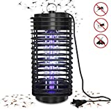 ERTDDE Electric Bug Zapper, Mosquito Killer Lamp, Mosquito Trap with Hook, Insect Bug Fly Catcher, UV Bug Light LED Lamp for Home Bedroom,Kitchen, Office Black