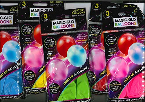 LED Light up Balloons Pack Of 15 Mixed Color Party Pack Balloons Illoom Balloon IBLED