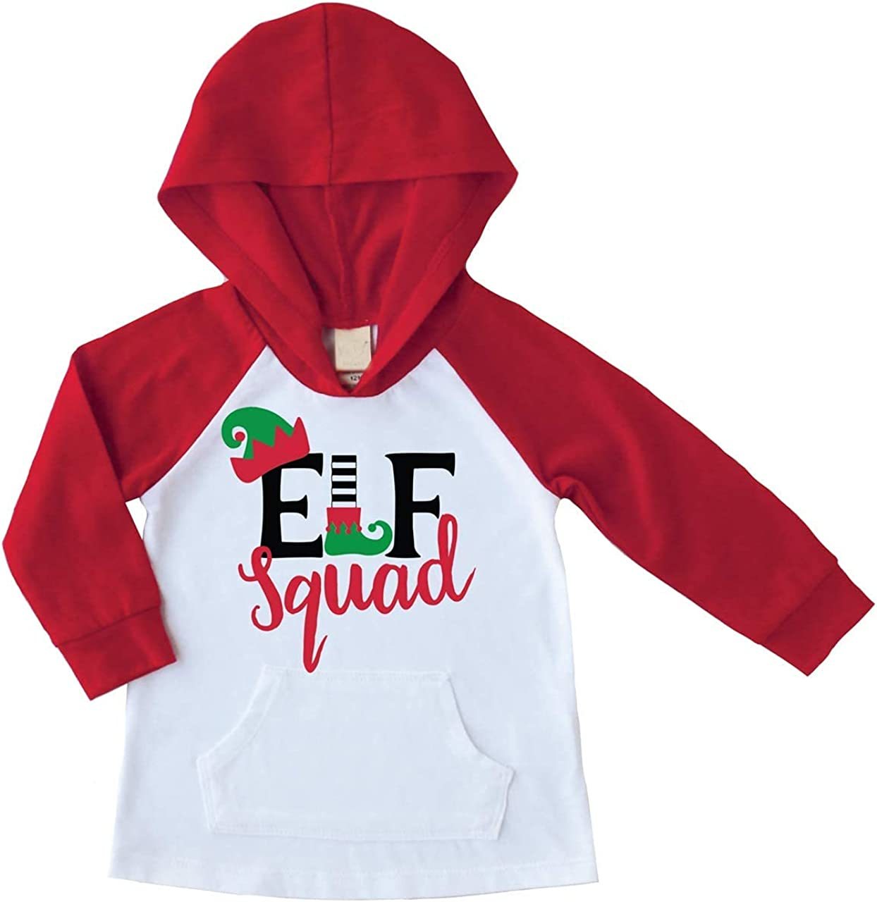 Bump and Beyond Designs Kids Elf Squad Christmas Raglan Hoodie
