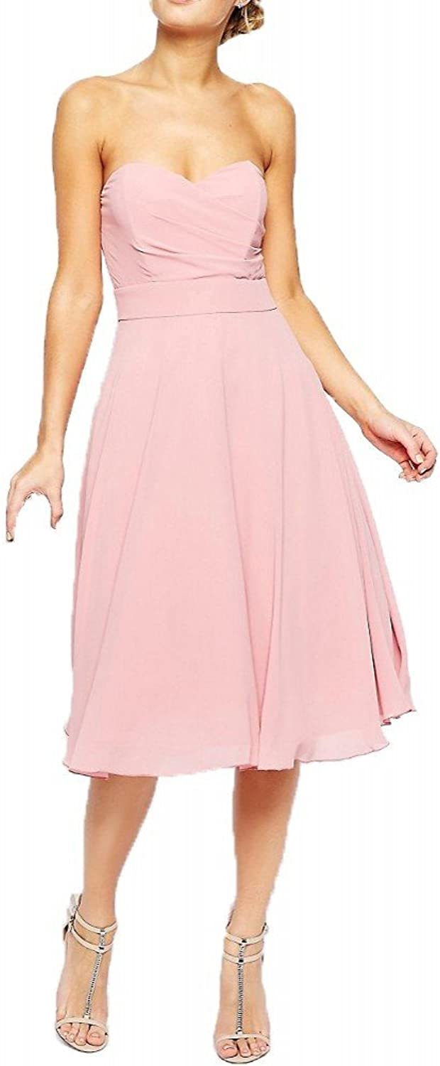 Blevla Strapless Short Bridesmaid Dress Homecoming Dress