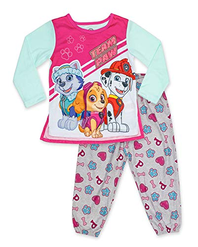 Paw Patrol Girl's 2 Piece PJ Set with Removable Cape,Mint,100% Polyester,Toddler Girl's Size 2T to 5T