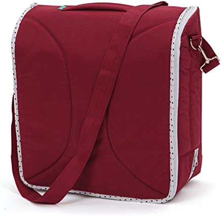 LWKBE Portable Bassinet Foldable Baby Bed Baby Lounger Travel Crib Infant Cot Newborn Diaper Bag Changing Station Seat Tummy Time Folding Crib Nursery Red