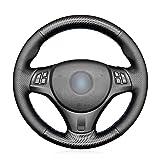 MEWANT Funda de volante para (M Sport) 1 Series E87/E81/E82 (Coupe)/E88 (Convertible)/M E82/3 Series E90 (Sedan)/ E91 (Touring)/ E92 (Coupe)/E93/X1 E84/M3 E90 (Sedan) / E92 (Coupe)/ E93