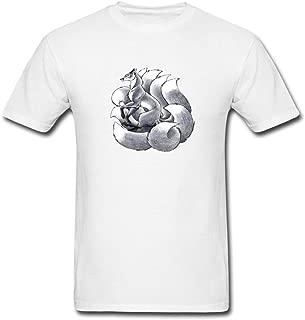 Pingteam Men's The Nine Tailed Fox art T shirts