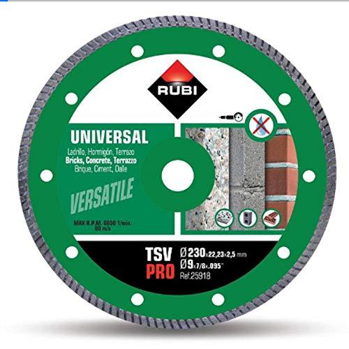 Rubi 25918 Disco de Diamante general obra turbo (TSV) 230 PRO, Gris, 230 mm