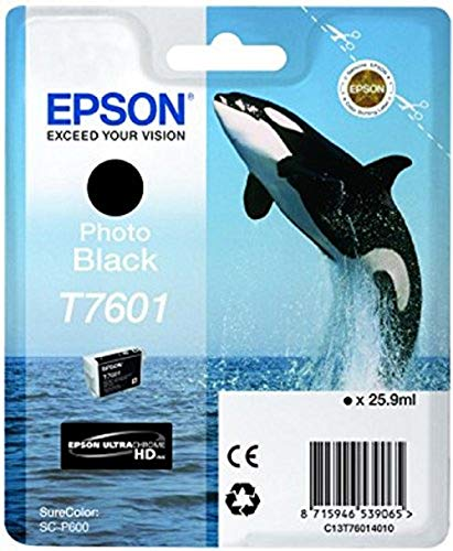 Epson T76014010 Foto Tintenpatrone 26 ml, photo Schwarz