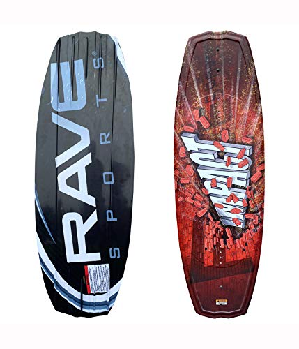 RAVE Sports Impact Wakeboard with Charger Boots, Orange/Blk (PV1802677)