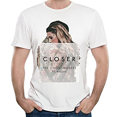 Sady Men's Chainsmokers Halsey's Closer Design Short-Sleeved T Shirts