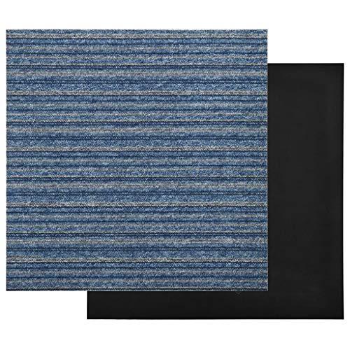 Pissente Juego de 20 baldosas impermeables para suelo de moqueta, de 50 x 50 cm, antiestático, para salón, dormitorio, sala de estudio