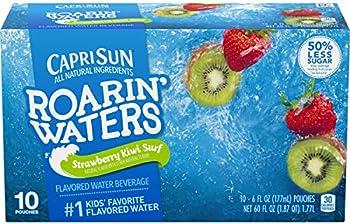 4-Pack Capri Sun Roarin' Waters Flavored Water Beverage, 10 Pouches