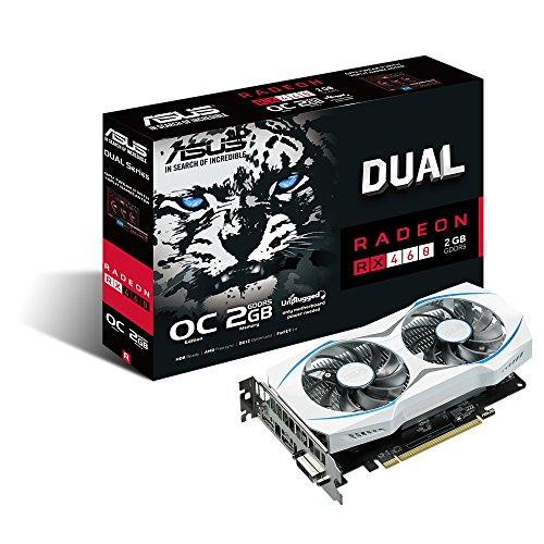 Asus Dual-RX460-O2G AMD Radeon RX 460 460Grafikkarte, 2GB