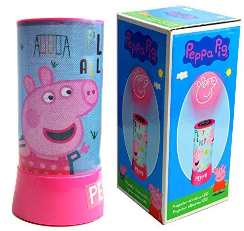 PEPPA PIG Lampara led proyector cilindrico Hogar Unisex Infantil, Multicolor (Multicolor)