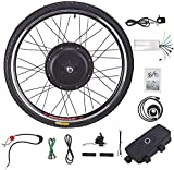 VIRIBUS Electric Bicycle Conversion Kit, 48V 1000W Ebike Kit, 26'' Front Wheel, Brushless Gearless Hub Motor, Ebike Conversion Kit
