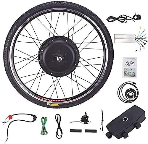 HIRAM 48V 1000W Electric Bike Conversion Kit, 26' Front Wheel Dual Mode Controller, Hub Control Brushless Motor E-Bike Conversion Kit (1000W Front Wheel)