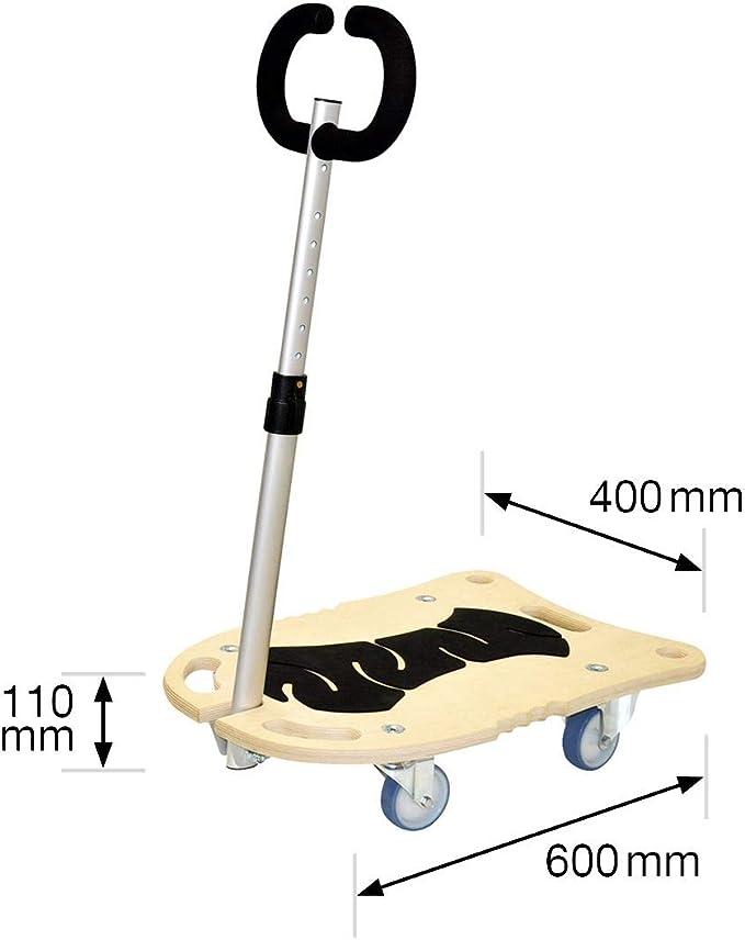 Multiplexplatte Birke 18 mm Rollen /Ø 75 mm soft ausziehbare Deichsel 60-98 cm 20116901 Tragkraft 250 kg WAGNER Transporthilfe 60 x 40 x 11 cm STAR CARRIER TATTOO COMPACT FSC/®