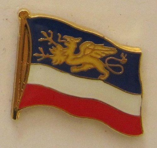 Pin Anstecker Flagge Fahne Rostock Stadtflagge Flaggenpin Badge Button Flaggen Clip Anstecknadel