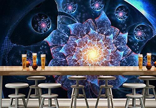 Fototapete 3D Effekt Tapeten Blue Ray Alien Blume Tapete 3D Vliestapete Wandpapier Wandbilder Wohnzimmer Tv Hintergrundbild Wanddeko 400x280cm