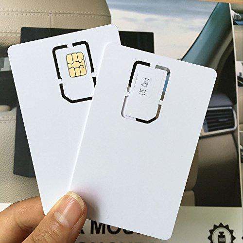 AHongem 30-piece beschreibbares programmierbar blanko Weiß SIM Usim Karte 4-G LTE WCDMA GSM Nano Micro-SIM-Karte 2FF 3FF 4FF für Telecom Betreiber (30-piece)
