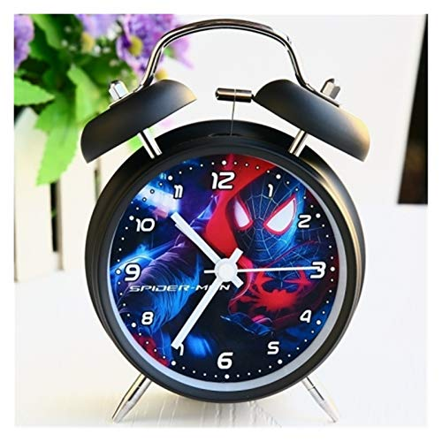 yywl Reloj Despertador Reloj Despertador Dibujos Animados Simple Pantalla niños Lindo Despertador Reloj Digital Reloj de Alarma Moderno con retroiluminación (Color : K)