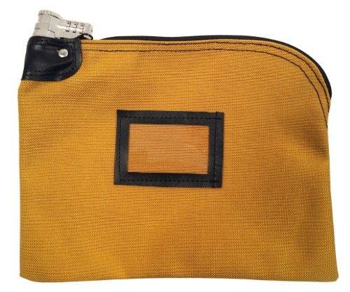 Locking Bank Bag 1350 Ballistic Weave Nylon Combination Keyed Security Copper