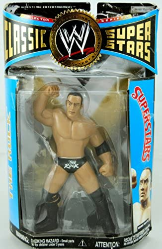WWE Wrestling Classic Superstars Series 15 Action Figure The Rock LJN Style