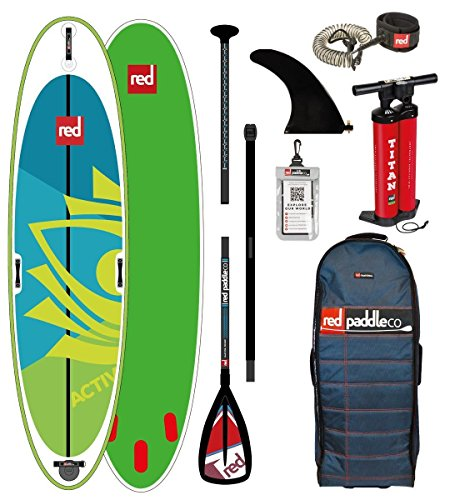 Red Paddle Co - SUP - Stand Up Paddle Boarding - Activ Yoga 10';8 Aufblasbares Stand Up Paddle Board + Tasche, Pumpe, Paddel & Leine