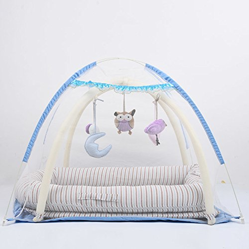 Read About YBDXMM Multifunctional Portable Travel Bed Co-Sleeping,100% Cotton Cribs Lightweight Hypo...