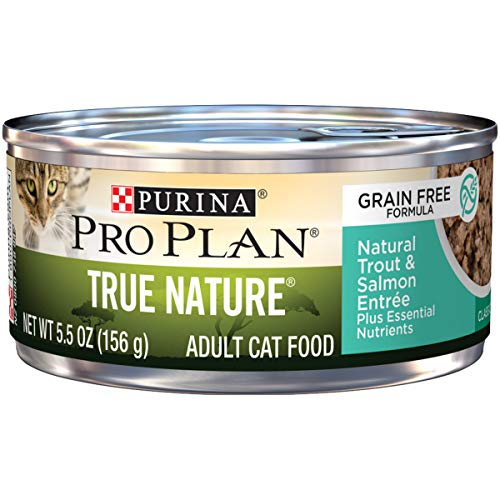 Purina Pro Plan Natural, Grain Free Pate Wet Cat Food, TRUE NATURE Natural Trout & Salmon Entree -...