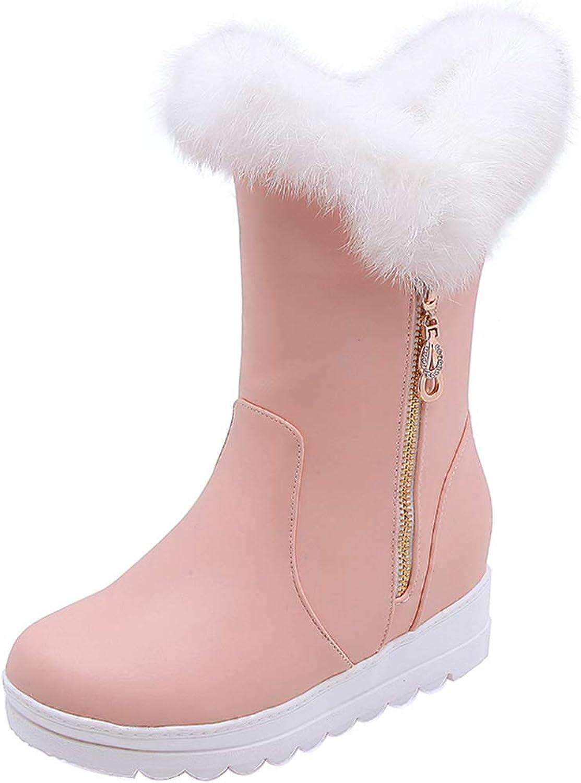 AicciAizzi Ladies Mid Calf Boots Platform Bootie